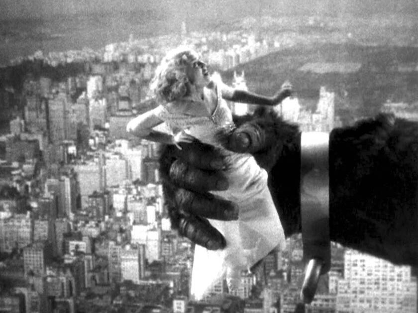 Fay Wray in the 1933 movie 'King Kong'