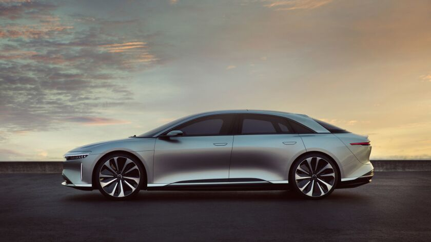 Lucid Motors' vehicle is the Lucid Air electric car. The company wants money to get a factory up and running.