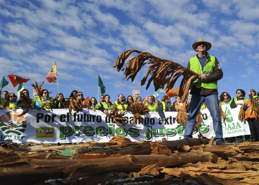 Spain Farmers Protest