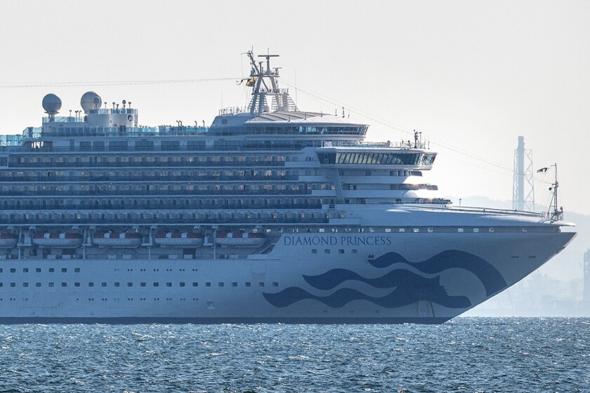 The cruise ship Diamond Princess is quarantined off Yokohama, with 174 passengers infected with coronavirus.