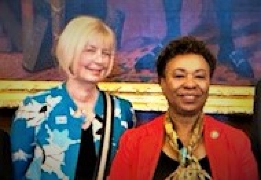 Nancy Gatschet with U.S. Rep. Barbara Lee.jpg