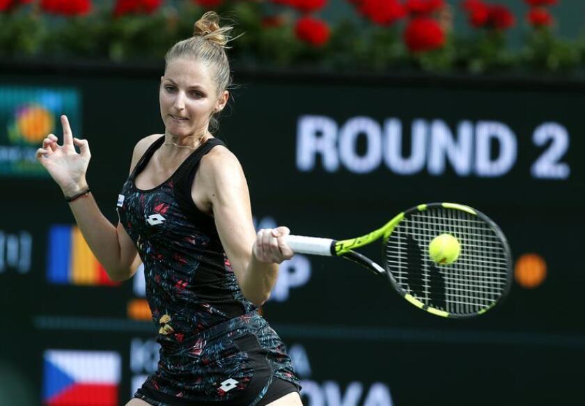En la imagen la tenista checa Kristyna Pliskova. EFE/Archivo
