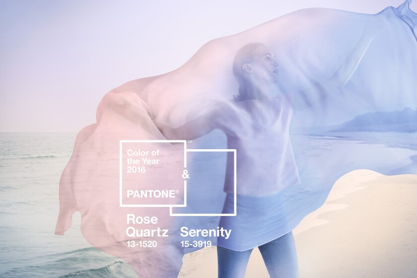 Rose Quartz and Serenity are the Pantone colors of the year for 2016.