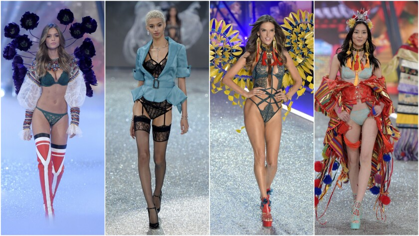 Looks from the Victoria's Secret Fashion Show in Paris. The show will air on Dec. 5 on CBS and online.
