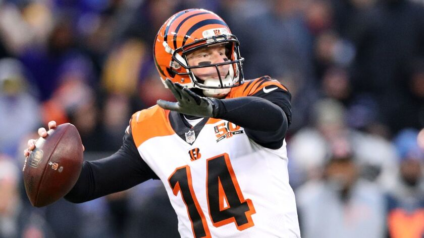 Cincinnati quarterback Andy Dalton suddenly has a lot of new fans in Buffalo after the Bengals' win over the Baltimore Ravens on Sunday allowed the Bills to make the NFL playoffs for the first time in 17 years.