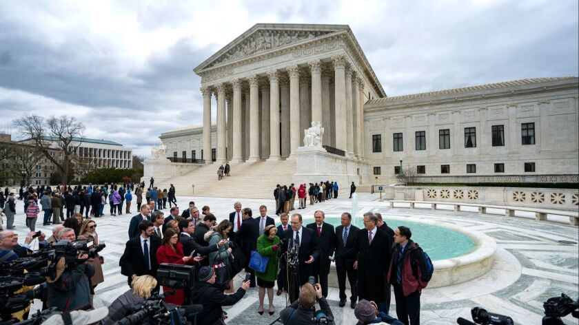 Supreme Court hears arguments in e-commerce case, Washington, USA - 17 Apr 2018