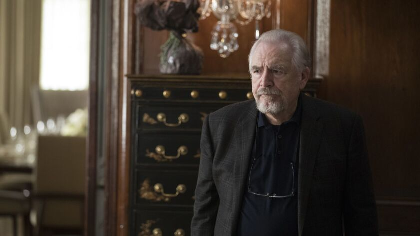 "Brian Cox in a scene from ""Succession."" Credit: Craig Blankenhorn/HBO"