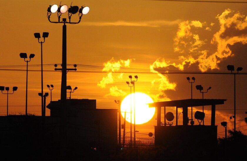 The Guantanamo Bay detention center for terrorism suspects.