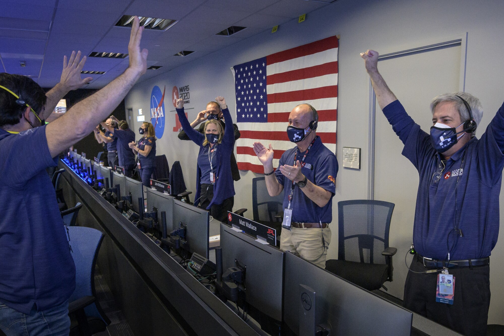 Image result for NASA Perseverance rover celebration -