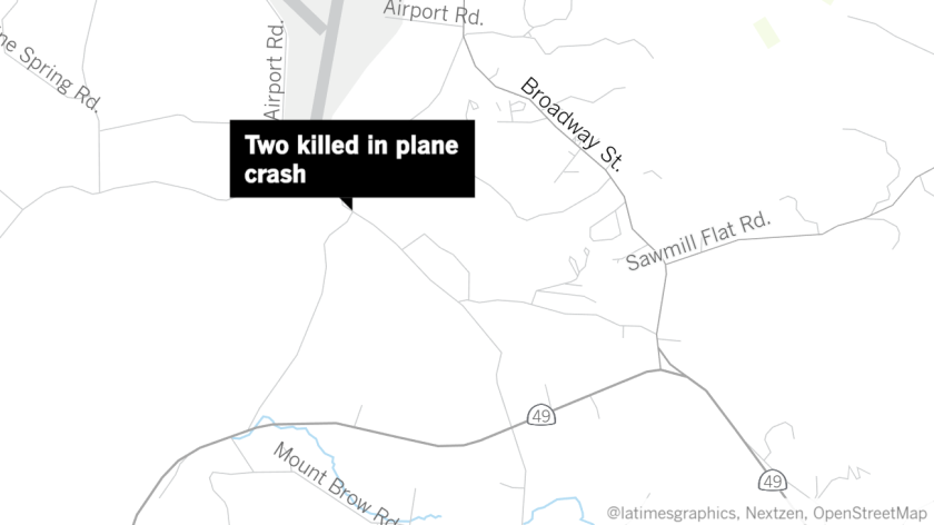 Two people died after a small plane crashed in Tuolumne County on Wednesday, officials said.