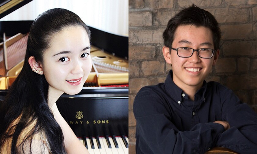 Anne Liu, 17, and Michael Chen, 18, both of Carmel Valley, are this year's U.S. Presidential Scholars from San Diego. Courtesy photos