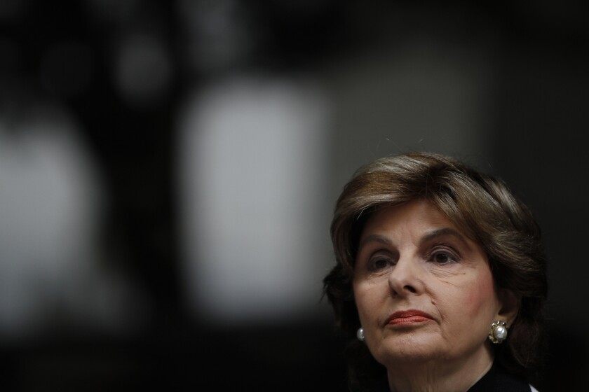 Attorney Gloria Allred speaks at a news conference in 2014. Over the last four decades, she's represented rape victims and celebrities in high-profile cases.