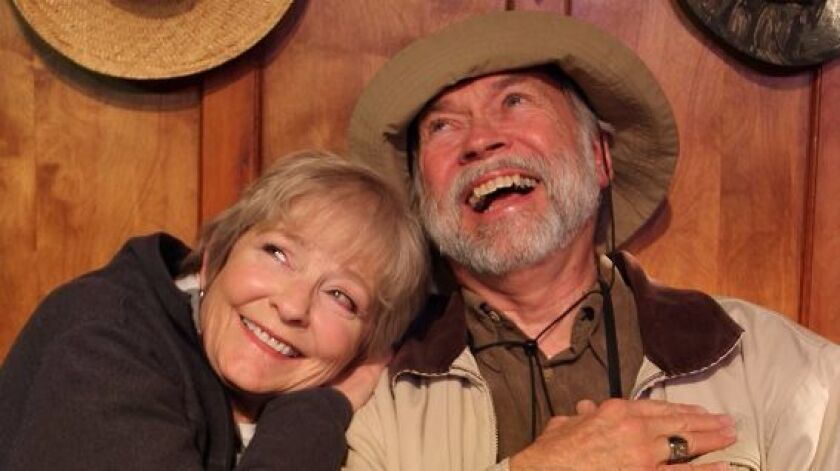 "Marilyn Wolfe and Lou Slocum star in ""On Golden Pond."""
