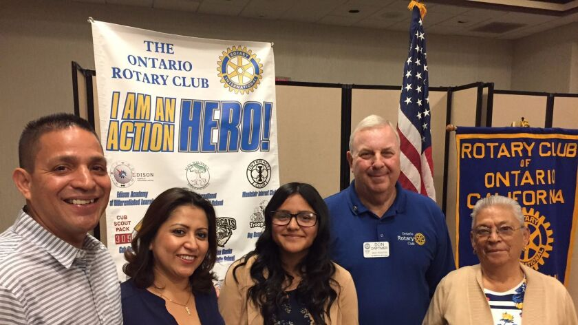 Ontario Rotary student of the month