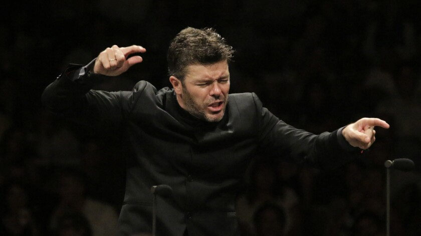 Review: Conductor Pablo Heras-Casado turns on the charm at the Hollywood Bowl