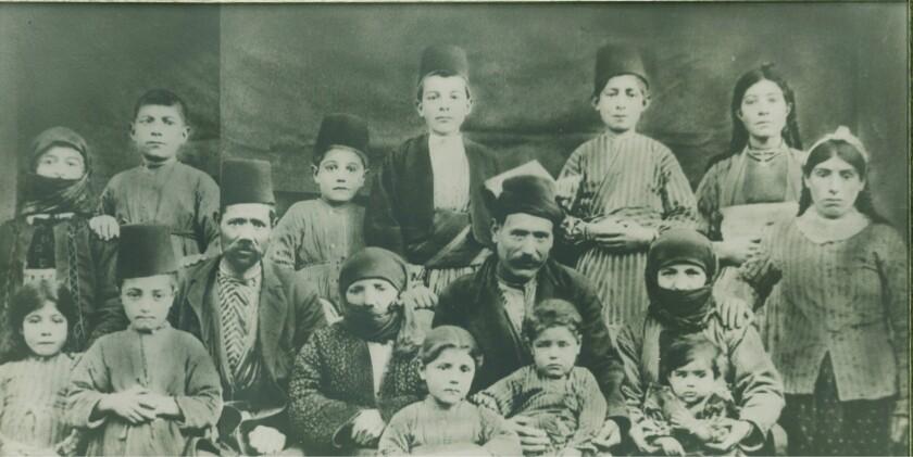 Melissa, Tateosian family from Kharpert. The majority were killed in the Genocide, ( photo Courtesy of Paul Jamushian)