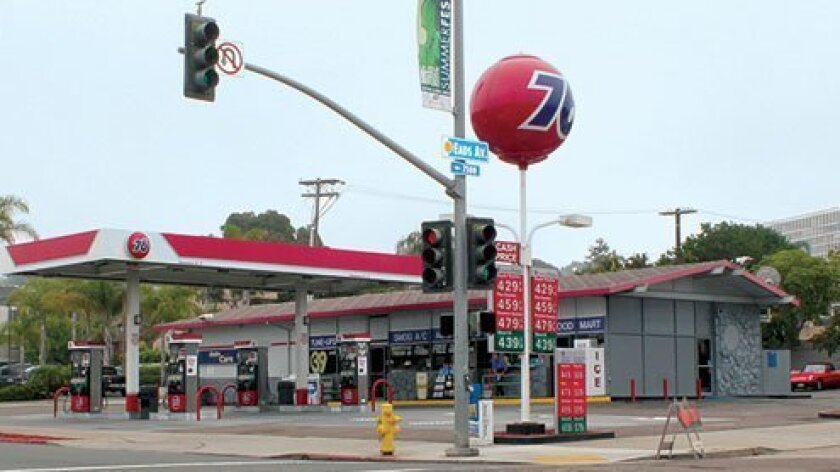 The owner of this 76 gas station on Pearl Street plans to demolish it and build a two-story mixed-use project that would include four commercial spaces (possibly a natural foods market) and 12 condominiums.