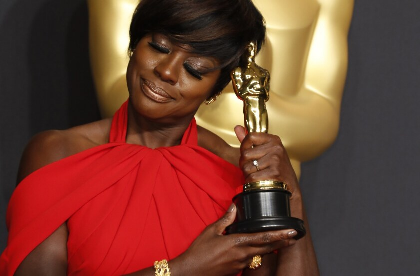 """Viola Davis won the Oscar in the supporting actress category Sunday for her role in """"Fences."""""""