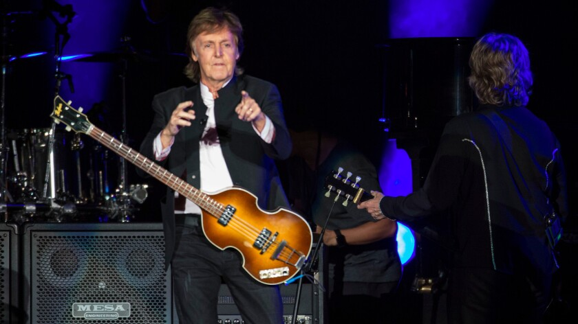 McCartney played material from throughout his half-century career.