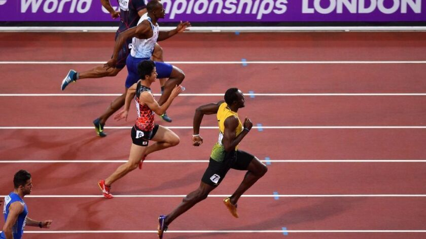 Jamaica's Usain Bolt won a preliminary heat in the 100 meters at the world championships on Aug. 4.