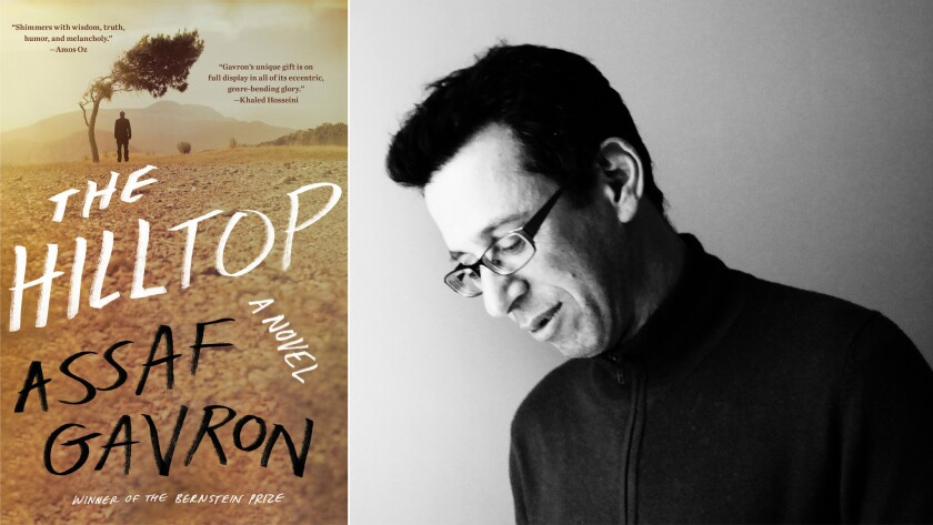 """The cover of """"The Hilltop"""" and author Assaf Gavron."""