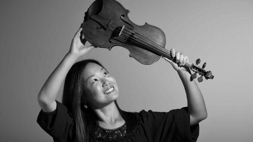 San Diego Symphony violinist Yumi Cho.