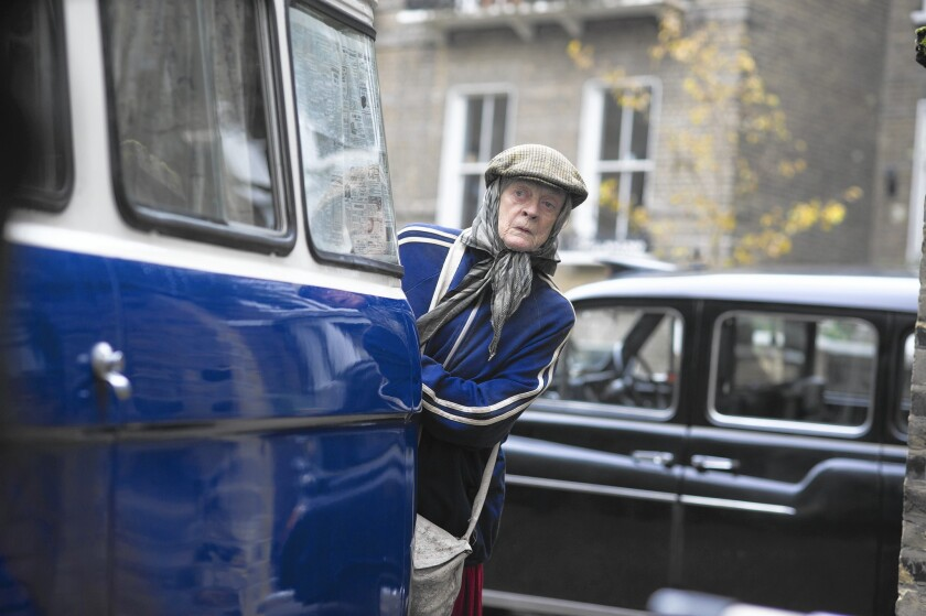 Maggie Smith brings a regal bearing to a bag lady role in 'Lady in the Van'