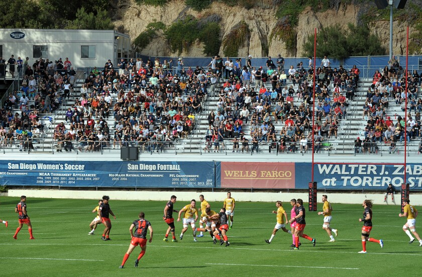 The San Diego Legion are hoping to return later this season to USD's Torero Stadium.