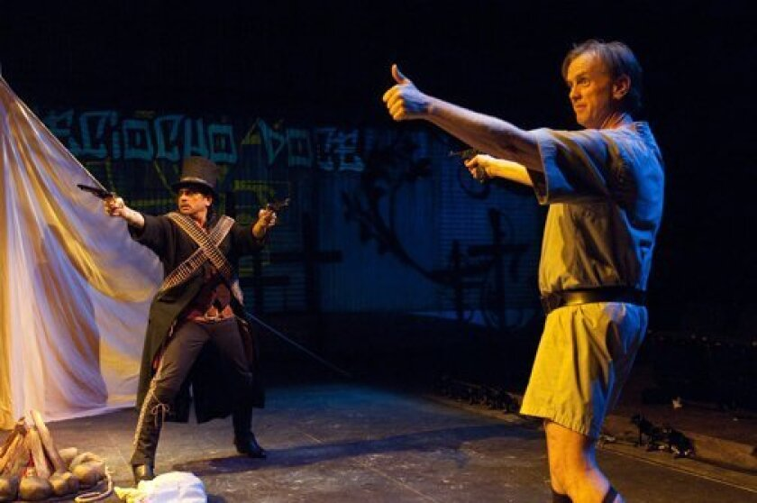 Richard Montoya and David Kelly in La Jolla Playhouse's production of 'American Night: The Ballad of Juan Jose.' Jenny Graham