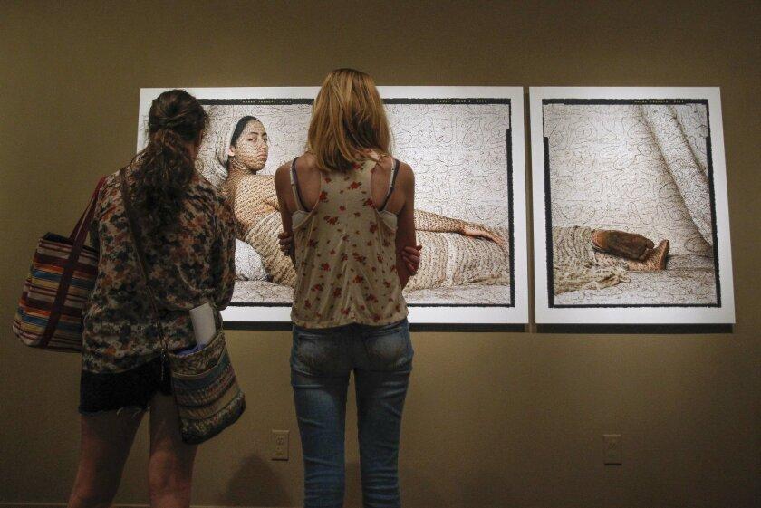"""Lalla Essaydi's """"La Grande Odalisque"""" at San Diego Museum of Art"""