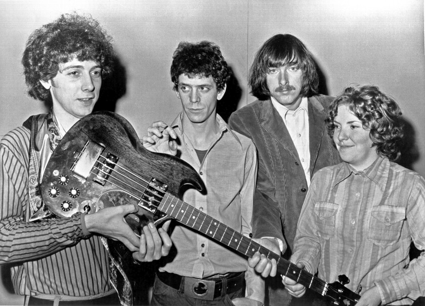 """The Velvet Underground in 1970: Doug Yule, left, Lou Reed, Sterling Morrison and Maureen """"Moe"""" Tucker."""