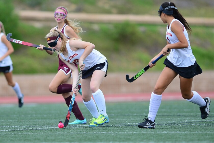 The TPHS girls field hockey team won a 8-0 nonleague victory over Point Loma on Sept. 27.