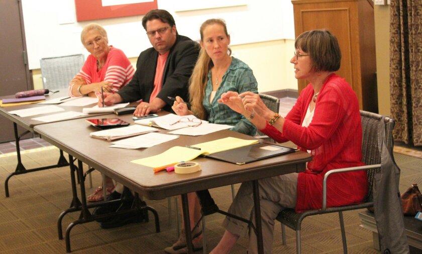 Ad Hoc Committee members Angeles Liera, Eric Lindebak, Sharon Wampler (chair) and Diane Kane.