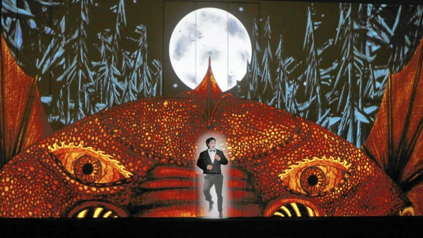 """Ben Bliss as Tamino in a cinematic """"The Magic Flute"""" production that works as an animated silent movie."""