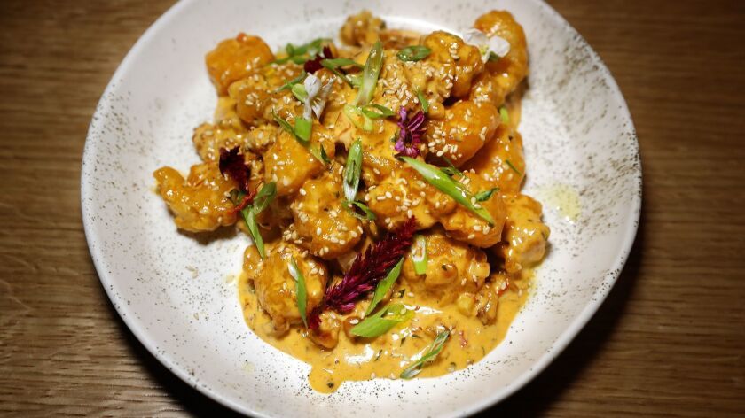 Slippery shrimp is on the menu at Roy Choi's new restaurant, Best Friend.