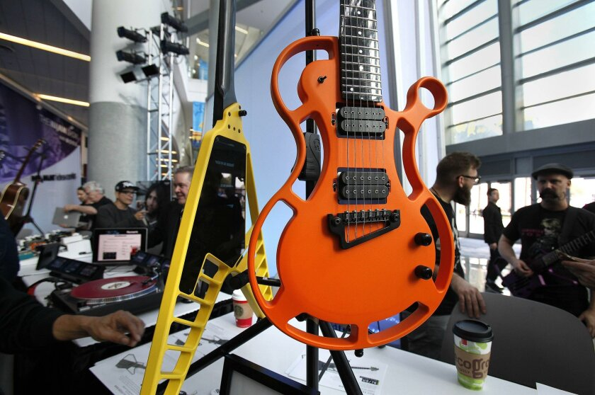 660 Guitars, a company that creates playable instruments from man-made materials showcased their CT/52 model.