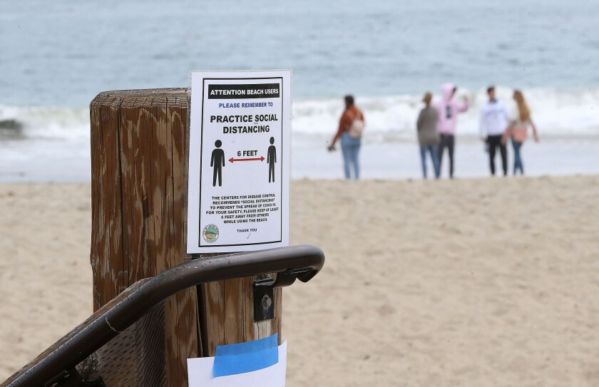All city-owned beaches in Laguna Beach were closed in March in an effort to promote social distancing to curb the spread of the coronavirus that causes COVID-19.