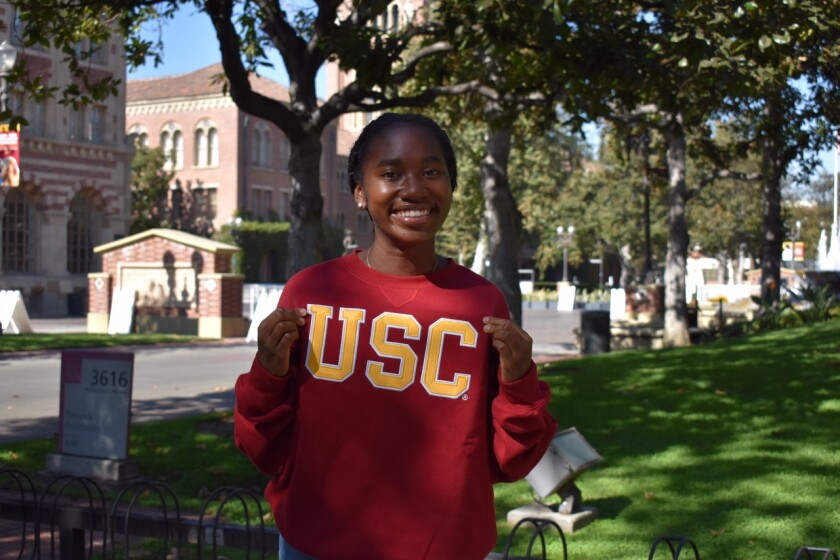 Junior Asjia Roberson of Redondo Union, a USC commit, started her lacrosse career by buying a $249 stick.