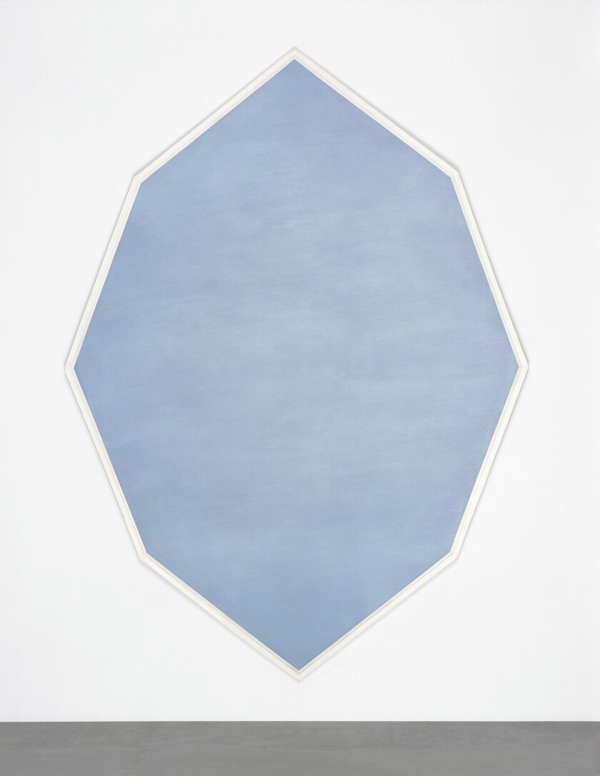 """Mary Corse, """"Octagonal Blue,"""" on view at LACMA."""