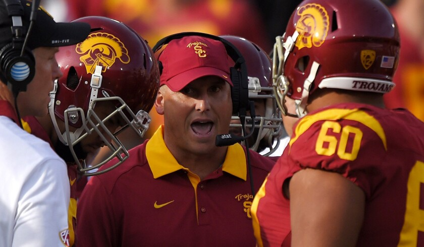 Clay Helton's future at USC could be affected by game against Arizona