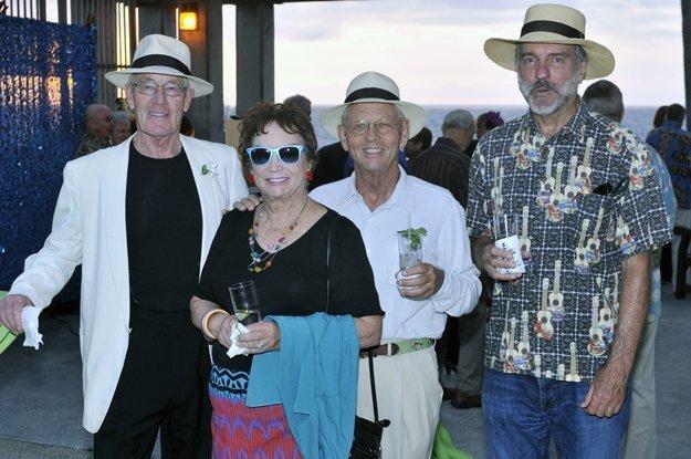 Joel Holliday, Susan and Judd Halenza, Del Mar city council member Dwight Worden