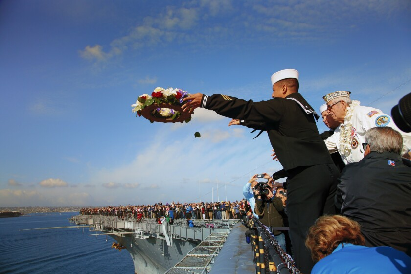 Pearl Harbor Remembrance Ceremony on board the USS Midway