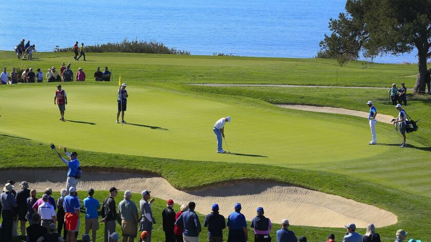 Fans can get an early glimpse of players in the Farmers Insurance Open as nearly half the field participaties in Wednesday's pro-am at Torrey Pines.