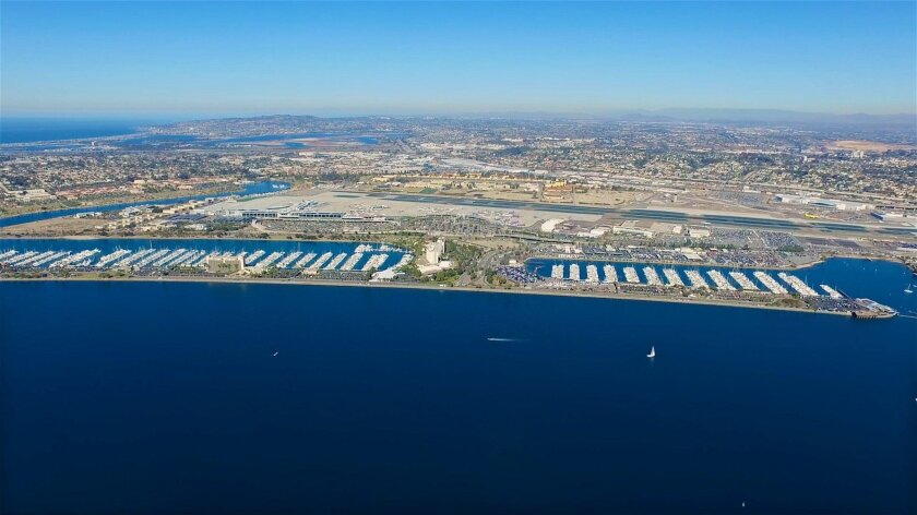 The 57 acres of land and water encompassing part of Harbor Island and the site of the rental car lots along Harbor Drive would be redeveloped under six bids submitted to the port district.