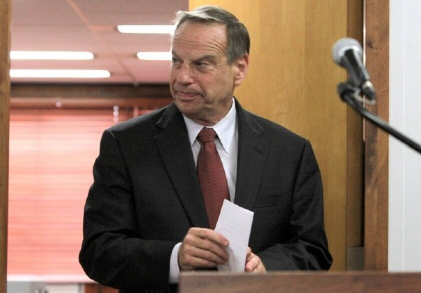 Mayor Bob Filner of San Diego arrives at a press conference to announce his intention to seek professional help for sexual harassment issues.