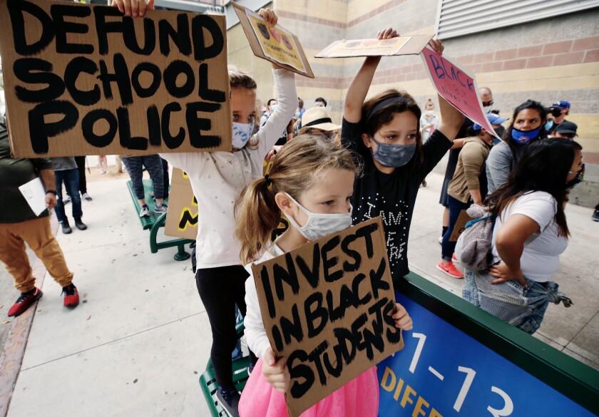 School police protest
