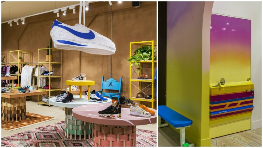 Low-rider fitting rooms, Nike piñatas help make new Venice sneaker