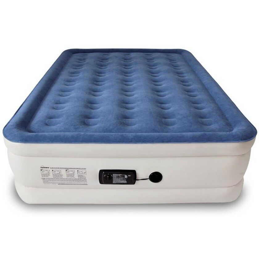 SoundAsleep's air mattress looks like a regular bed, but folds into a tote bag when deflated.