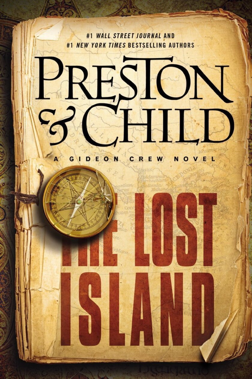 """This book cover image released by Grand Central Publishing shows """"The Lost Island,"""" by Preston & Child. (AP Photo/Grand Central Publishing)"""