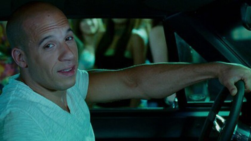 """Dominic Toretto (Vin Diesel) pays a visit to Japan driving Han's American muscle in """"The Fast and th"""
